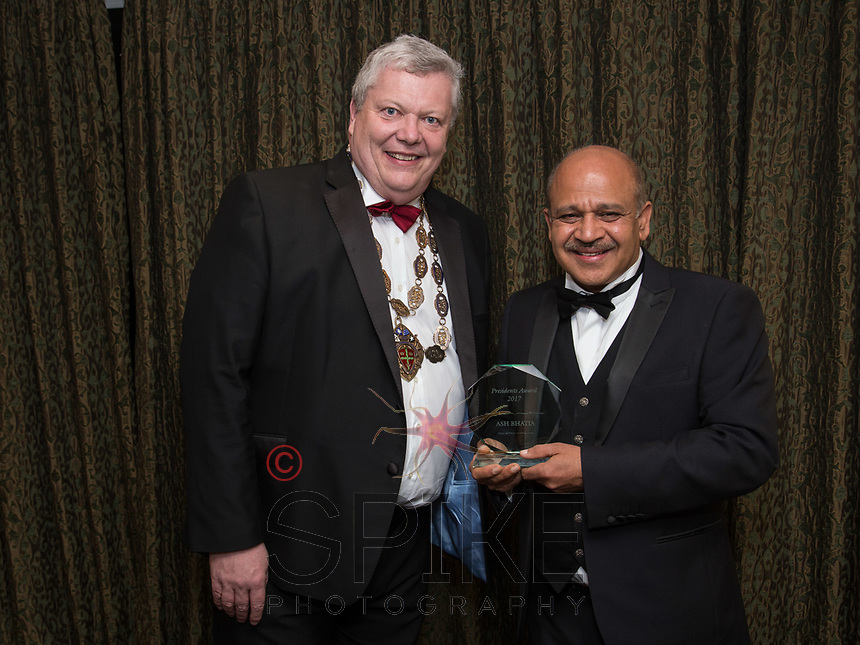 Pictured with Michael Auty QC, President of the Nottinghamshire Law Society isAsh Bhatia - President's Award