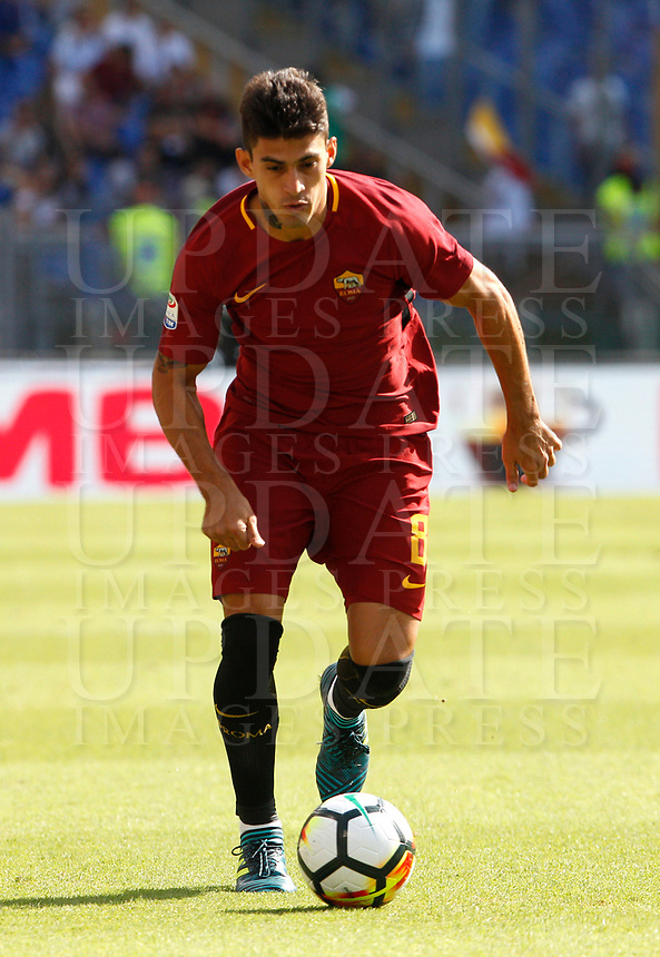 Calcio, Serie A: Roma vs Udinese. Roma, stadio Olimpico, 23 settembre 2017.<br /> Roma's Diego Perotti in action during the Italian Serie A football match between Roma and Udinese at Rome's Olympic stadium, 23 September 2017. Roma won 3-1.<br /> UPDATE IMAGES PRESS/Riccardo De Luca