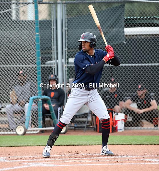 Will Benson - Cleveland Indians 2020 spring training (Bill Mitchell)
