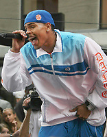 """08-31-07, Chris Brown performing on NBC's """"Today"""" Show Toyota Concert Series, Photo By John Barrett/PHOTOlink"""