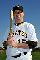 Feb 28, 2010; Bradenton, FL, USA; Pittsburgh Pirates  infielder Andy LaRoche (15) during  photoday at Pirate City. Mandatory Credit: Tomasso De Rosa/ Four Seam Images