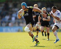 James Haskell of London Wasps scores a try which was then disallowed for a knock on during the first leg of the European Rugby Champions Cup play-off match between London Wasps and Stade Francais at Adams Park on Sunday 18th May 2014 (Photo by Rob Munro)