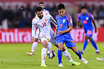 Ahmed Ali Juma of Bahrain (L) battles for the ball with Udanta Singh Kumam of India (R) during the AFC Asian Cup UAE 2019 Group A match between India (IND) and Bahrain (BHR) at Sharjah Stadium on 14 January 2019 in Sharjah, United Arab Emirates. Photo by Marcio Rodrigo Machado / Power Sport Images