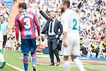 Real Madrid's coach Zinedine Zidane during La Liga match between Real Madrid and Levante UD at Santiago Bernabeu Stadium in Madrid, Spain September 09, 2017. (ALTERPHOTOS/Borja B.Hojas)