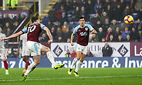 Burnley's Ashley Barnes shoots the ball into the net only for his effort to be disallowed<br /> <br /> Photographer Andrew Kearns/CameraSport<br /> <br /> The Premier League - Burnley v Liverpool - Wednesday 5th December 2018 - Turf Moor - Burnley<br /> <br /> World Copyright © 2018 CameraSport. All rights reserved. 43 Linden Ave. Countesthorpe. Leicester. England. LE8 5PG - Tel: +44 (0) 116 277 4147 - admin@camerasport.com - www.camerasport.com
