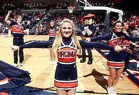 CHARLOTTESVILLE, VA- NOVEMBER 29:  Virginia Cavalier cheerleaders perform before the game on November 29, 2011 at the John Paul Jones Arena in Charlottesville, Virginia. Virginia defeated Michigan 70-58. (Photo by Andrew Shurtleff/Getty Images) *** Local Caption ***