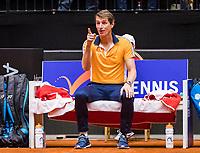Den Bosch, The Netherlands, Februari 10, 2019,  Maaspoort , FedCup  Netherlands - Canada, doubles match Sunday : Captain Paul Haarhuis (NED)<br /> Photo: Tennisimages/Henk Koster
