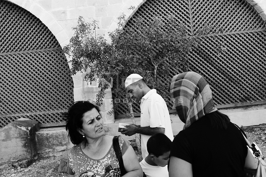 During the feast of Kadir Gecesi, a Moslem feast on the 26th day of Ramadan at the Hala Sultan Tekke mosque