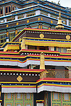 The Rumtek monastery is the largest Tibetan Bhuddist monastery in Sikkim. Originally built in the 16th century, it was in ruins by the 20th century, and rebuilt in the 1960s.