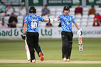 Luke Wright and Travis Head enjoy a useful partnership for Sussex during Essex Eagles vs Sussex Sharks, Vitality Blast T20 Cricket at The Cloudfm County Ground on 15th June 2021