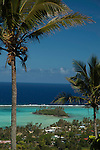 Looking out over the lagoon in Rarotonga, Cook Islands
