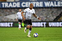 André Ayew of Swansea City in action during the Sky Bet Championship match between Swansea City and Cardiff City at the Liberty Stadium in Swansea, Wales, UK. Saturday 20 March 2021