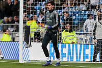 Real Madrid's Luca Zidane warms before La Liga match between Real Madrid and SD Huesca at Santiago Bernabeu Stadium in Madrid, Spain.March 31, 2019. (ALTERPHOTOS/A. Perez Meca)<br /> Liga Campionato Spagna 2018/2019<br /> Foto Alterphotos / Insidefoto <br /> ITALY ONLY