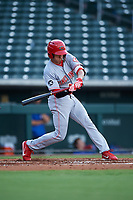 AZL Reds Yan Contreras (51) at bat during an Arizona League game against the AZL Cubs 2 on July 23, 2019 at Sloan Park in Mesa, Arizona. AZL Cubs 2 defeated the AZL Reds 5-3. (Zachary Lucy/Four Seam Images)