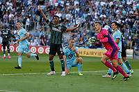 ST PAUL, MN - AUGUST 14: Jonathan Klinsmann #33 of the Los Angeles Galaxy during a game between Los Angeles Galaxy and Minnesota United FC at Allianz Field on August 14, 2021 in St Paul, Minnesota.