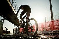 sunny/muddy racing for the U23's<br /> <br /> Azencross Loenhout 2014