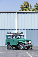 BNPS.co.uk (01202 558833)<br /> Pic: PawelLitwinski/Bonhams/BNPS<br /> <br /> PICTURED: Tom Hanks's 1980 Toyota FJ40 Land Cruiser Hardtop<br /> <br /> The airstream trailer superstar Tom Hanks used on film sets for over 30 years has sold for £170,000.<br /> <br /> The award-winning actor bought and personally equipped the trailer in 1993 and made it his 'home away from home' on 18 different movie sets across America.<br /> <br /> The Hollywood star decided to put his 1992 Airstream up for auction at Bonhams in LA, along with the Ford pickup he used to tow it, his high-performance Tesla Model S and a 1980 Toyota Land Cruiser.<br /> <br /> In total the vehicles sold for £368,577.