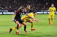 Carson, CA - November 13, 2016: The U.S. Women's National team take a 4-0 lead over Romania in an international friendly game at StubHub Center.