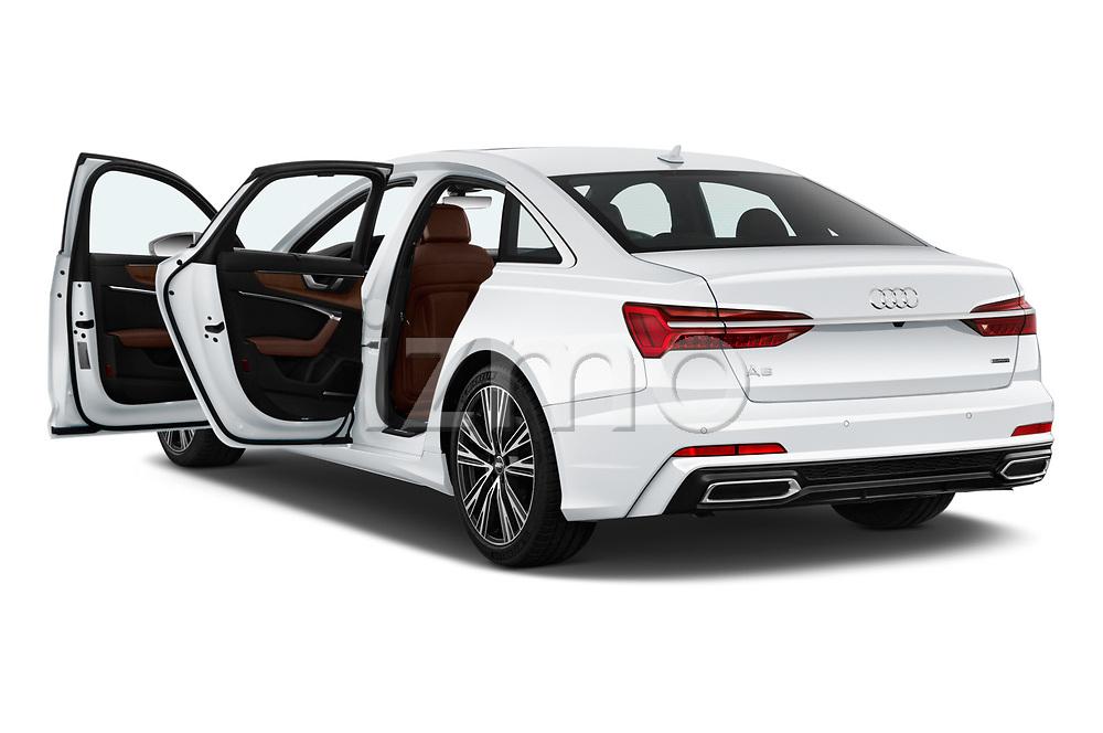 Car images close up view of a 2019 Audi A6 Premium Plus 4 Door Sedan doors