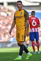Anthony Knockaert of Brighton & Hove Albion (11) during the pre season friendly match between Brighton and Hove Albion and Atletico Madrid at the American Express Community Stadium, Brighton and Hove, England on 6 August 2017. Photo by Edward Thomas / PRiME Media Images.