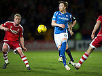 St Johnstone v Aberdeen…22.04.16  McDiarmid Park, Perth<br />Liam Craig and Barry Robson<br />Picture by Graeme Hart.<br />Copyright Perthshire Picture Agency<br />Tel: 01738 623350  Mobile: 07990 594431