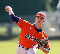 October 25, 2009: Kevin Brady of the Clemson Tigers in an intra-squad Orange and Purple scrimmage game at the end of fall practice at Doug Kingsmore Stadium in Clemson, S.C. Photo by: Tom Priddy/Four Seam Images