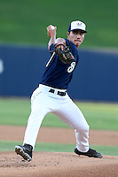 Kodi Medeiros #43 of the AZL Brewers pitches against the AZL White Sox at the Maryvale Baseball Complex on July 11, 2014 in Phoenix, Arizona. (Larry Goren/Four Seam Images)