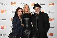 CAMELIA KATH, DIRECTOR MICHELLE SINCLAIR AND 'CHICAGO' DRUMMER DANNY SERAPHINE - RED CARPET OF THE FILM 'THE TERRY KATH EXPERIENCE' - 41ST TORONTO INTERNATIONAL FILM FESTIVAL 2016 . 15/09/2016. # FESTIVAL INTERNATIONAL DU FILM DE TORONTO 2016