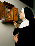 Tyburn Nun, Mother John Baptist, the Benedictine Adorers of the Sacred Heart of Jesus of Montmartre. Relics of bones and clothing from Tyburn's Catholic martyrs remain in the crypt.