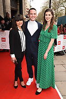 Steph Blackwell, David Atherton and Alice Fevronia<br /> arriving for theTRIC Awards 2020 at the Grosvenor House Hotel, London.<br /> <br /> ©Ash Knotek  D3561 10/03/2020