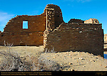Northeast Corner, Pueblo del Arroyo Chacoan Great House, Anasazi Hisatsinom Ancestral Pueblo Site, Chaco Culture National Historical Park, Chaco Canyon, Nageezi, New Mexico