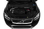 Car Stock 2020 Volvo XC90 Momentum 5 Door SUV Engine  high angle detail view