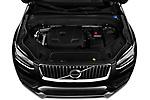 Car Stock 2020 Volvo XC90 Momentum 5 Door SUV Engine  high angle detail view