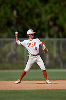 Jon Gilbride during the WWBA World Championship at the Roger Dean Complex on October 20, 2018 in Jupiter, Florida.  Jon Gilbride is a shortstop from Beverly, Massachusetts who attends Austin Preparatory School and is committed to Massachusetts at Lowell.  (Mike Janes/Four Seam Images)