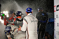 #31 Whelen Engineering Racing Cadillac DPi, DPi: Felipe Nasr, Pipo Derani, Eric Curran, #7 Acura Team Penske Acura DPi, DPi: Helio Castroneves, Ricky Taylor, Graham Rahal, podium