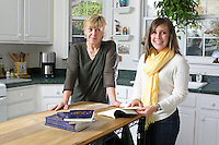 {November 7, 2009} 11:14:16 AM -- Fredericksburg, VA. -- Jody Williams, a Nobel Peace prize winner for her work in eradicating land mines, left, has pulled together a cookbook with recipes from other Nobel laureates and people who have worked for peace. She did the work in combination with her stepdaughter Emily Goose, right, as part of Emily's high school senior project.  ... -- ...Photo by Andrew B. Shurtleff, Freelance.
