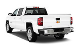 Rear three quarter view of a 2014 Chevrolet Silverado 1500 LT 2WD Crew Cab