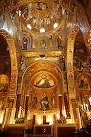 Byzantine Christian Mosaics of The Palatine Chapel  ( Capella Palatina) in The Norman Palace (Palazzo dei Normanni), Palermo, Sicily