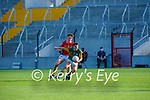 Conor Hayes Kerry gets to the ball ahead of Cork's  Colm O'Donovan during the U20 MFC game in Pairc Uí Caoimh last Thursday evening