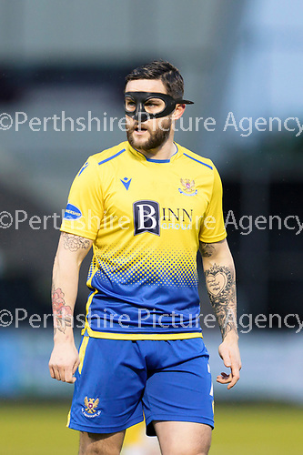 St Mirren v St Johnstone…19.12.20   St Mirren Park      SPFL<br />Craig Conway wearing his protective face mask<br />Picture by Graeme Hart.<br />Copyright Perthshire Picture Agency<br />Tel: 01738 623350  Mobile: 07990 594431