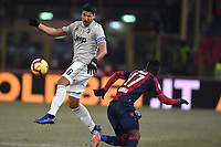 Sami Khedira of Juventus and Godfred Donsah of Bologna compete for the ball during the Italy Cup 2018/2019 football match between Bologna and Juventus at stadio Renato Dall'Ara, Bologna, January 12, 2019 <br />  Foto Andrea Staccioli / Insidefoto
