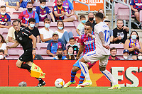 29th August 2021; Nou Camp, Barcelona, Spain; La Liga football league, FC Barcelona versus Getafe; Dest and Olivera challenge for the ball
