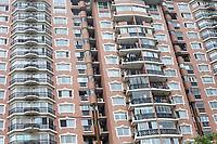 Nanjing, Jiangsu, China.  Modern Apartment Building.