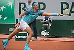 May 26, 2016:  Rafael Nadal (ESP) defeated Fecundo Bagnis (ARG) 6-3 in the first set, at Roland Garros being played at Stade Roland Garros in Paris, .  ©Leslie Billman/Tennisclix/CSM