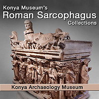 Pictures and Images of Roman Relief Sculpted Sarcophagus of Konya Archaeology Museum