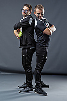 Pictured: Adam Stepien and Ewan Donaldson. Thursday 29 August 2018<br /> Re: Swansea City FC player and staff profile photo-shoot at Fairwood Training Ground, Wales, UK