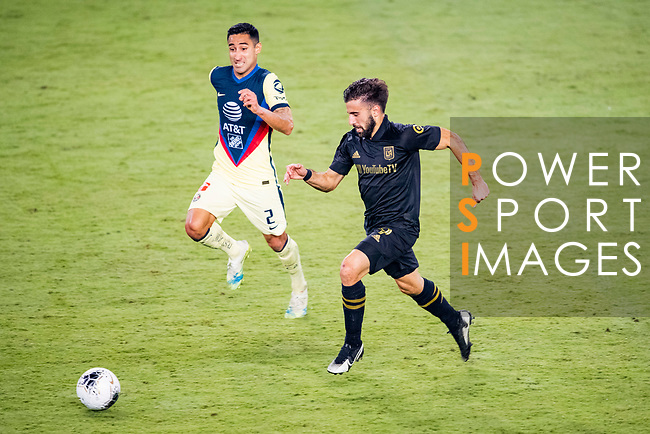 Diego Rossi of Los Angeles FC (USA) in action against Club America (MEX) during their CONCACAF Champions League Semi Finals match at the Orlando's Exploria Stadium on 19 December 2020, in Florida, USA. Photo by Victor Fraile / Power Sport Images