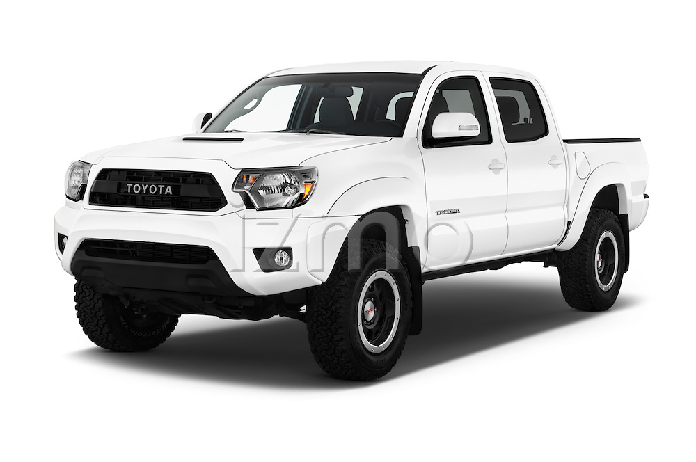 2015 Toyota Tacoma TRD Pro 4 Door Pickup Angular Front stock photos of front three quarter view