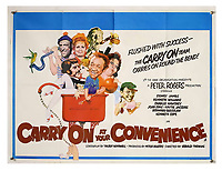 BNPS.co.uk (01202 558833)<br /> Pic: Ewbank's/BNPS<br /> <br /> Pictured: Carry On At Your Convenience (1971) poster sold for £140. <br /> <br /> A saucy collection of more than 20 vintage film posters from the 'Carry On' films have sold for almost £10,000.<br /> <br /> The 30ins by 40ins British quad posters were used on cinema billboards to advertise the comedy movies from the 1960s and '70s.<br /> <br /> The colourful posters depict comedy actors like Sid James, Kenneth Williams and Barbara Windsor who regularly starred in the comedy caper franchise.