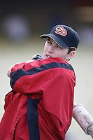Stephen Drew of the Arizona Diamondbacks during batting practice before a game from the 2007 season at Dodger Stadium in Los Angeles, California. (Larry Goren/Four Seam Images)